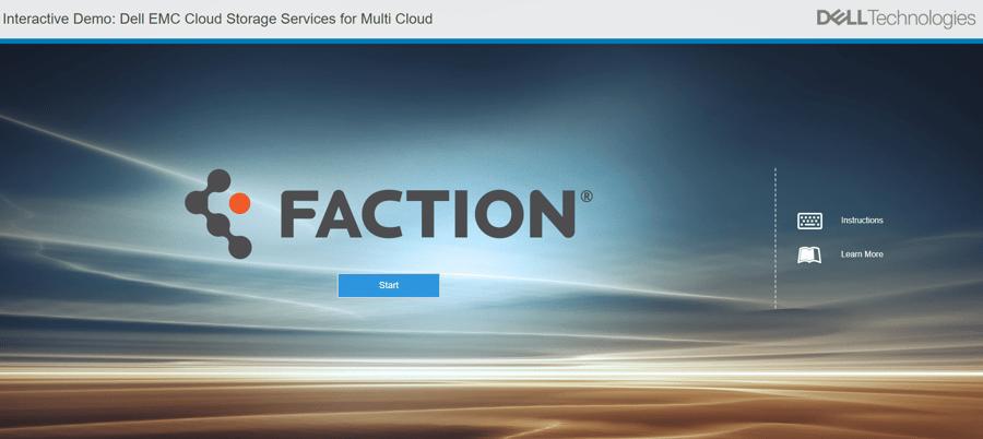 demo dellemc cloud storage services faction